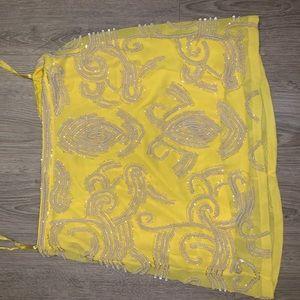 Yumi Kim Size M Beaded Yellow Miniskirt